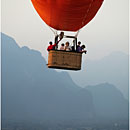 Balloon over Vang Vieng, Laos