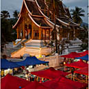 Haw Pha Bang, Luang Prabang, Laos, Night Market, Royal Palace
